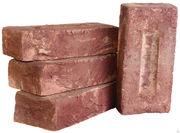 Продаем кирпич ручной формовки,  огнеупорный(шамотный),  фигурный кирпич